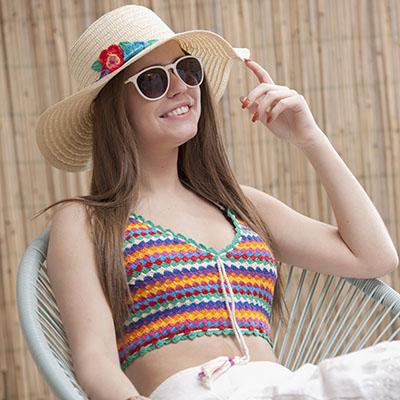 Haakpatroon Gekleurd Topje Haken In Ibiza Style Workshops
