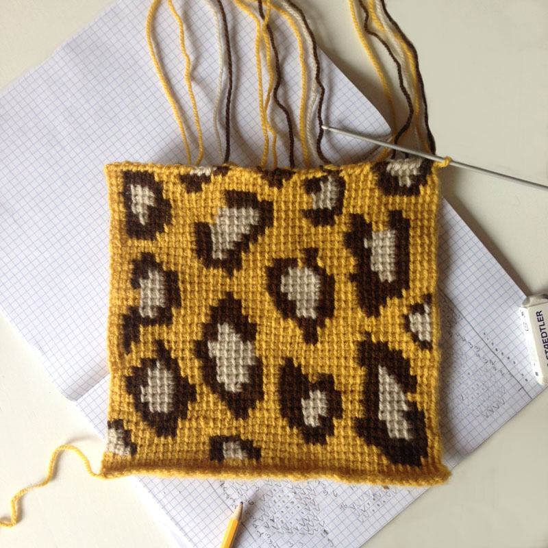 Tiny Projects no.1 Panter dessin haken crochet tunisch
