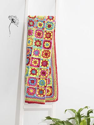 Durableposter, dekentje, grannysquares, happy colours, lenteposter, kleurig, gehaakt, haken