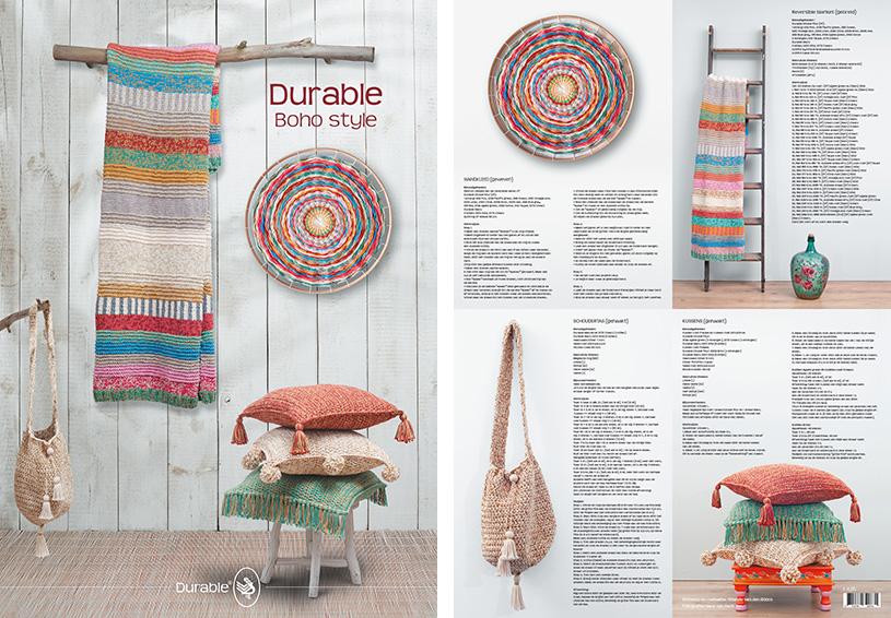 Durable posters, haken, breien, weven, deken, kussens, wanddecoratie, tas,