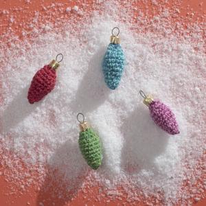dennenappel, kerst, haken, lurex, katoen, crochet,