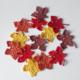 herfstblad haakpatroon, rood, oker, bruin, geel, katoen, esdoorn