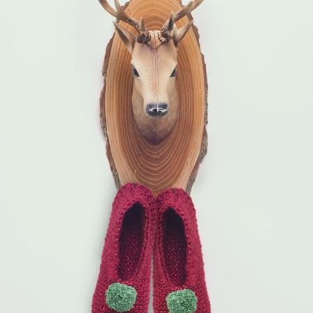 kerstslofjes breipatroon, breipatroon, instant download, breien, diy, katoen, lurex, kerst, kerstbreipatronen, kerstslofjes, kerstversiering, kerstboom