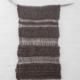 wandkleed, breipatroon, breien, wol, bruin, koperglans, stok
