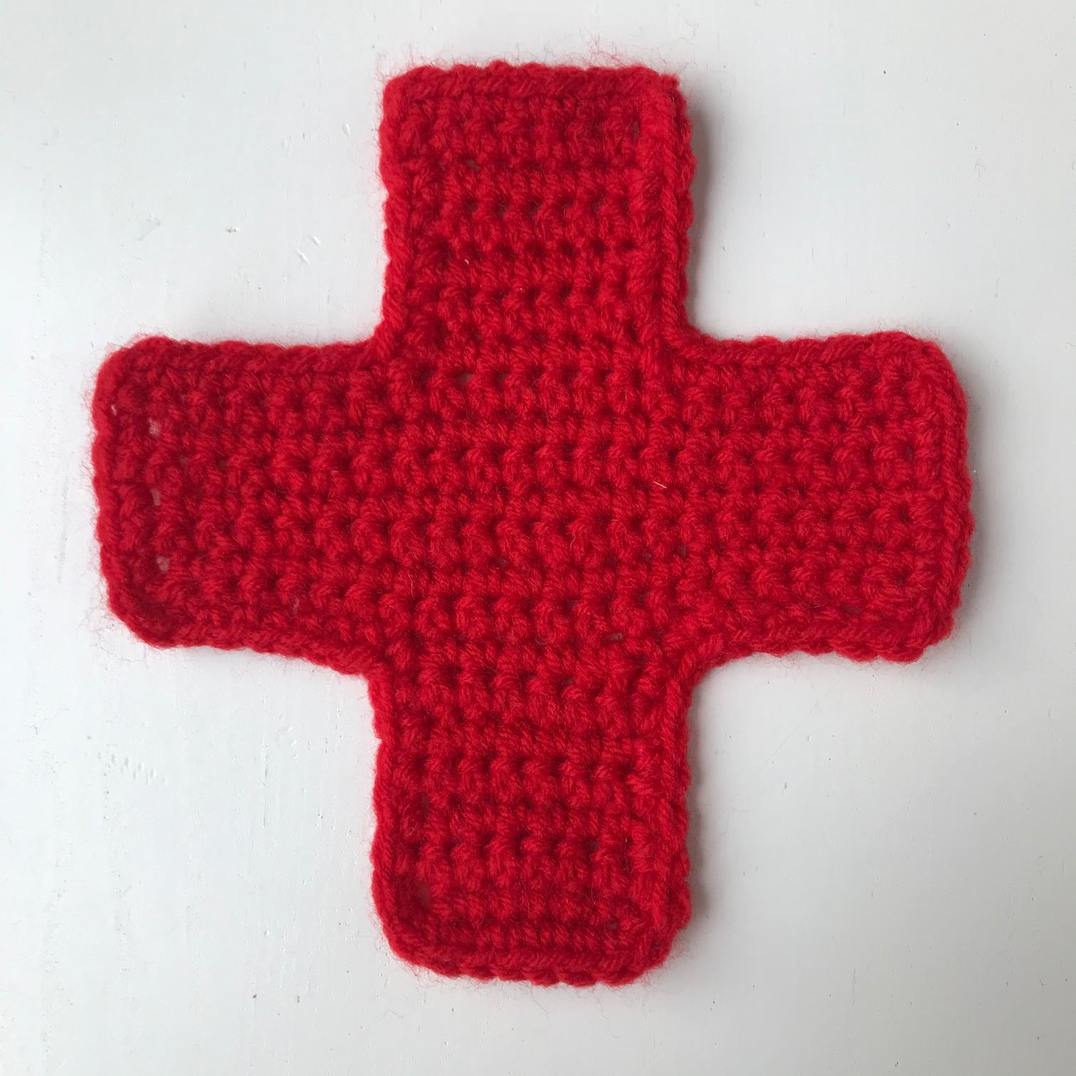 meetthemaker day 15, rood kruis , gehakt, red cross, crochet