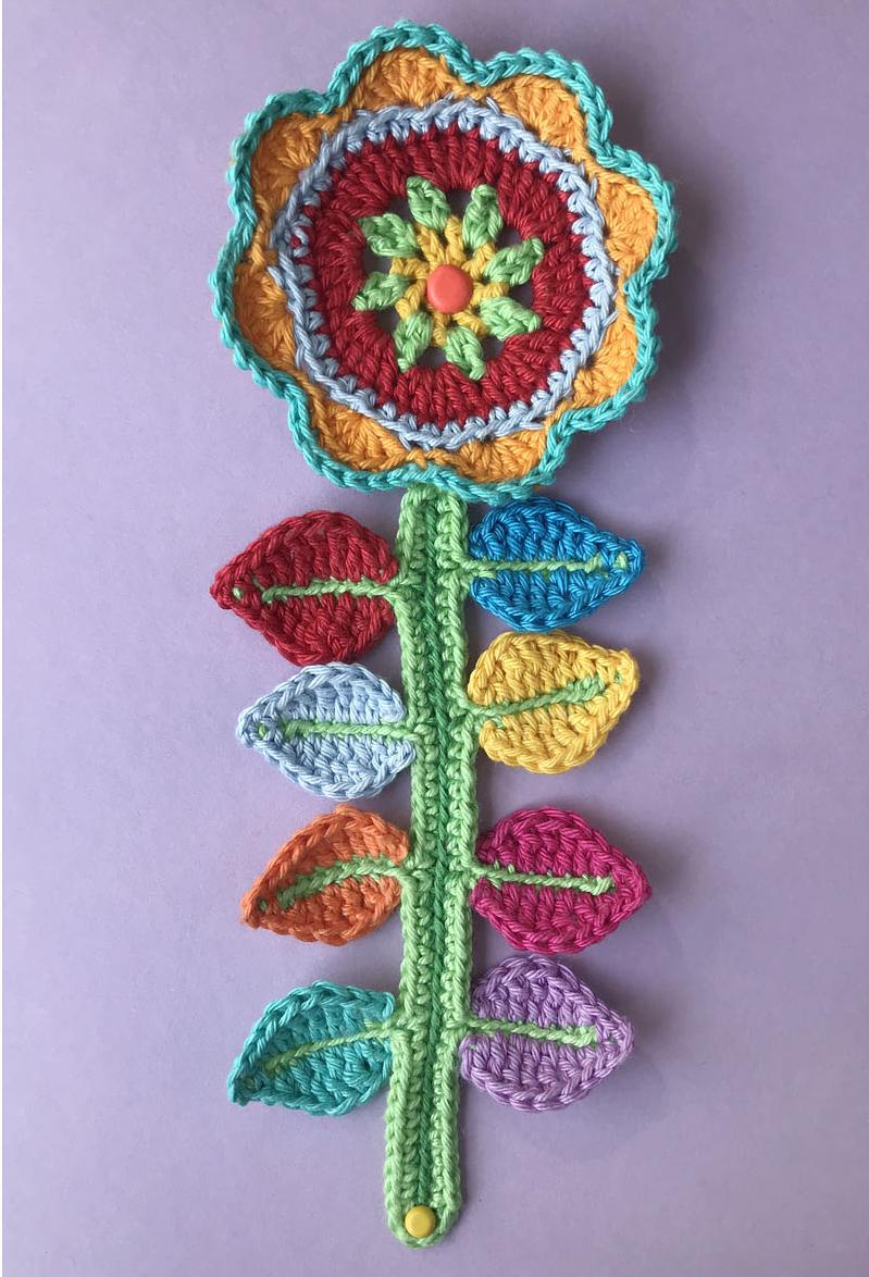 meettthemaker day 26, this or that, bloem, kleurig, stengel, blaadjes, gehaakt, katoen