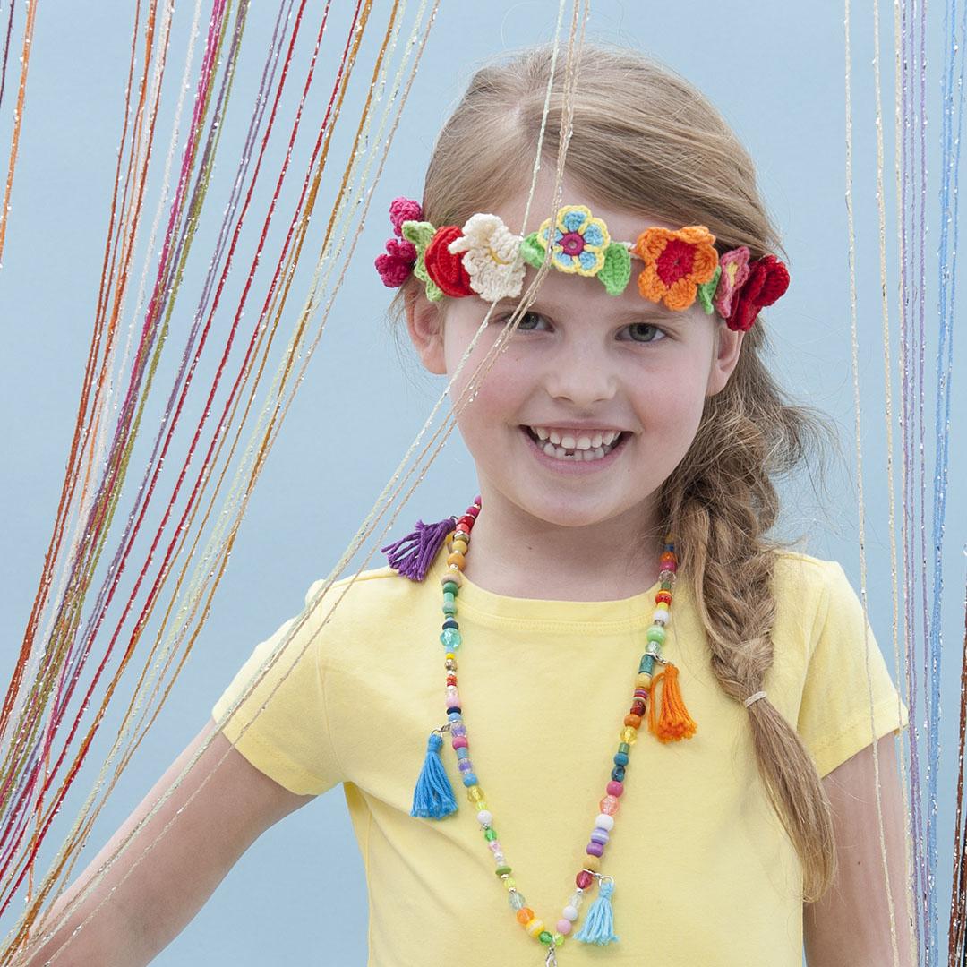 haarband met bloemen, kleurig, ibiza style, hippe, roosje