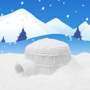 crochet pattern igloo, crochet, igloo, winter