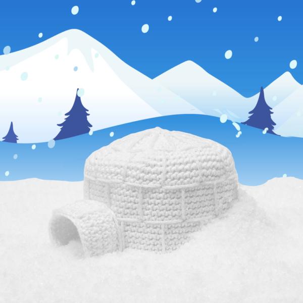 crochet pattern igloo, crochet, igloo, winter