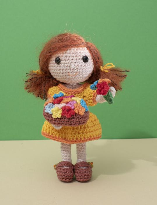bloemenmeisje, amigurumi, haakpatroon, haken, diy, instant download,crochet, crochetpattern