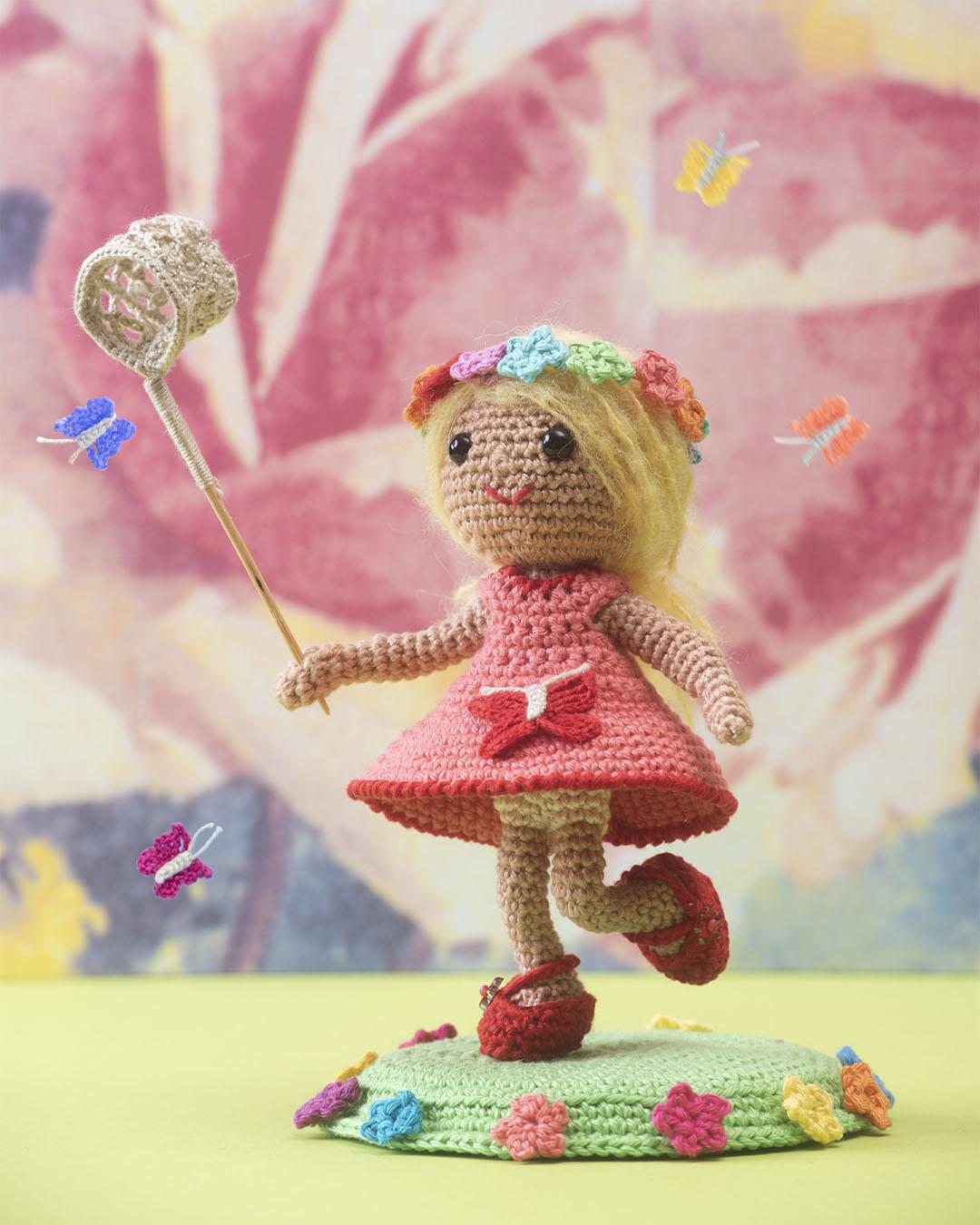 vlindermeisje, haakpatroon, haken, instantdownload, amigurumi, crochetpattern, crochet