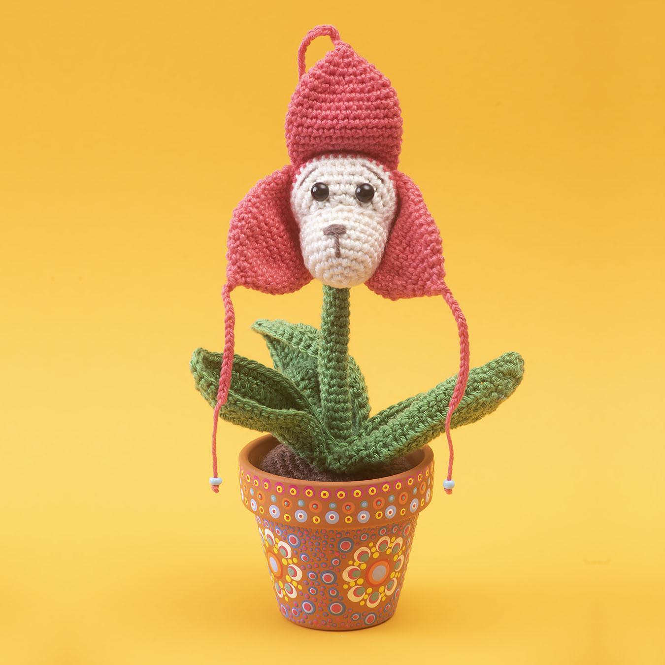 ape, monkey, crochet pattern, crochet, diy, coton, flower, orchid ape