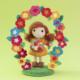 crochet doll with floral arch, crochet pattern, pattern, crochet, diy, flowers,