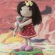 doll&cat, crochet pattern, cotton,